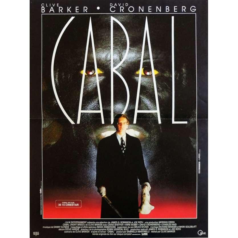 CABAL Affiche de film 40x60 cm - 1990 - David Cronenberg, Clive Barker