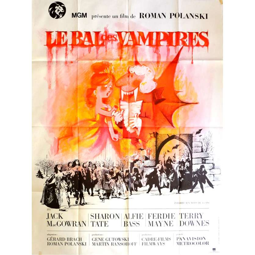 THE FEARLESS VAMPIRE KILLERS Movie Poster 47x63 in. French - 1967 - Roman Polanski, Sharon tate