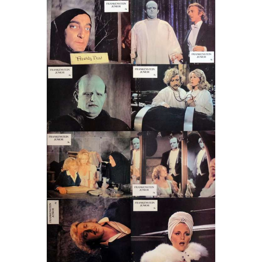 YOUNG FRANKENSTEIN Lobby Cards x8 9x12 in. French - 1974 - Mel Brooks, Gene Wilder