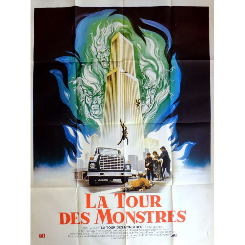 HOMEBODIES Movie Poster 47x63 in. French - 1974 - Larry Yust, Peter Brocco