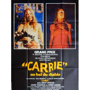 CARRIE Movie Poster 47x63 in. French - 1976 - Brian de Palma, Sissy Spacek