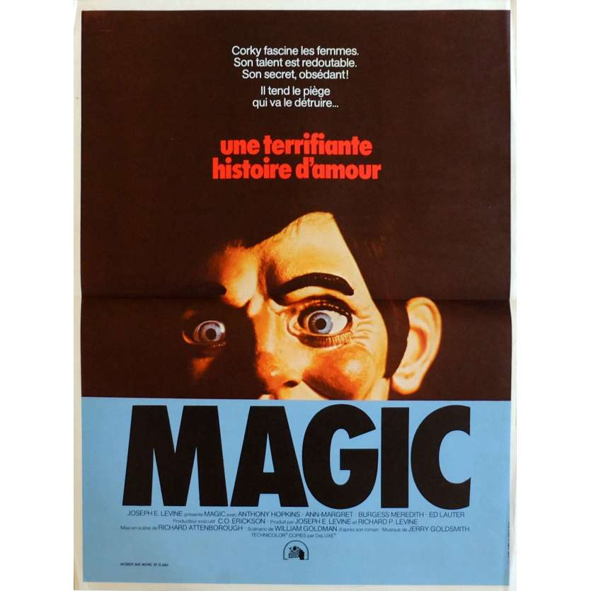 MAGIC Affiche de film 40x60 cm - 1978 - Anthony Hopkins, Richard Attenborough