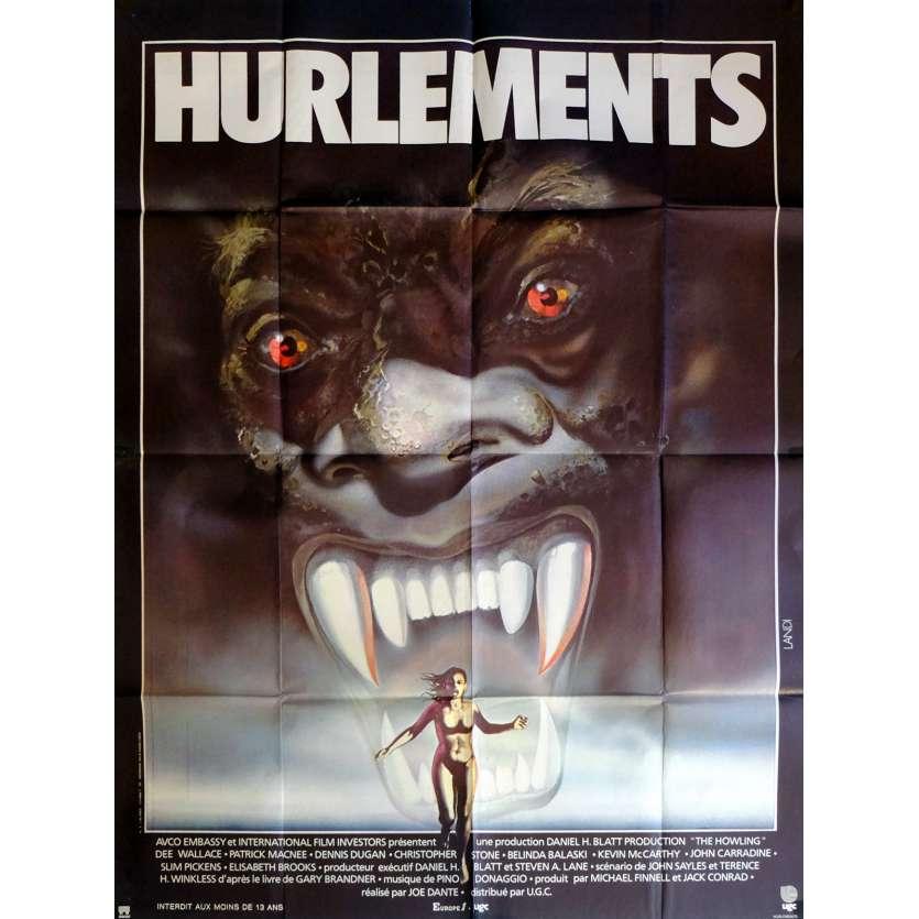 HURLEMENTS Affiche de film 120x160 cm - 1981 - Patrick McNee, Joe Dante