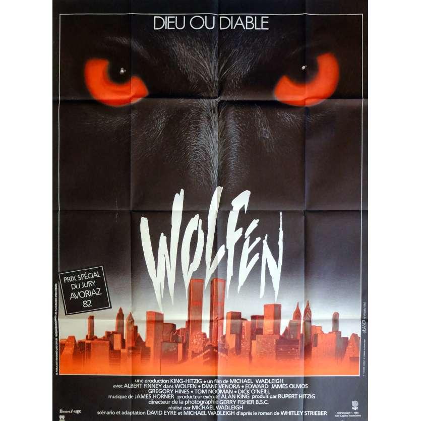 WOLFEN Movie Poster 47x63 in. French - 1981 - Michael Wadleigh, Albert Finney