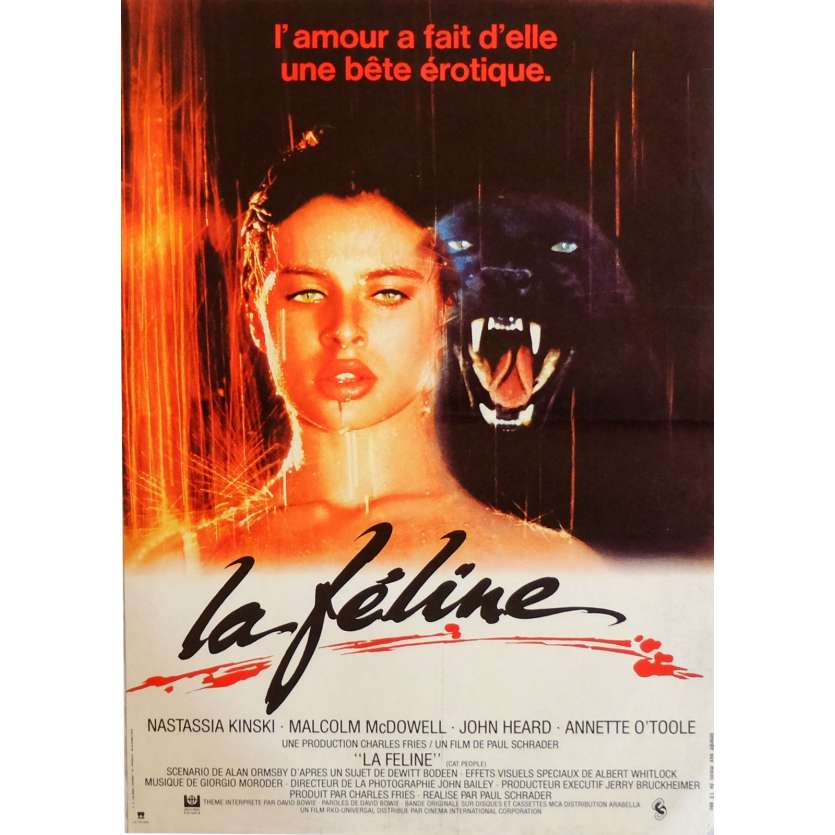 CAT PEOPLE Movie Poster 15x21 in. French - 1982 - Paul Schrader, Nastassja Kinski