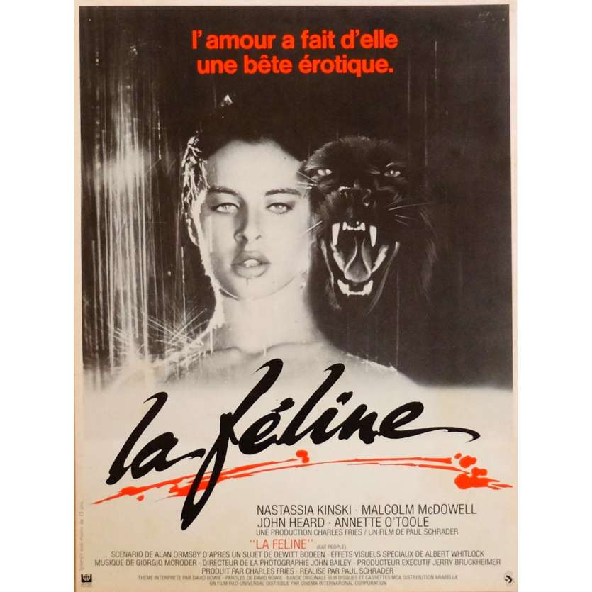 CAT PEOPLE Movie Poster 9x12 in. French - 1982 - Paul Schrader, Nastassja Kinski