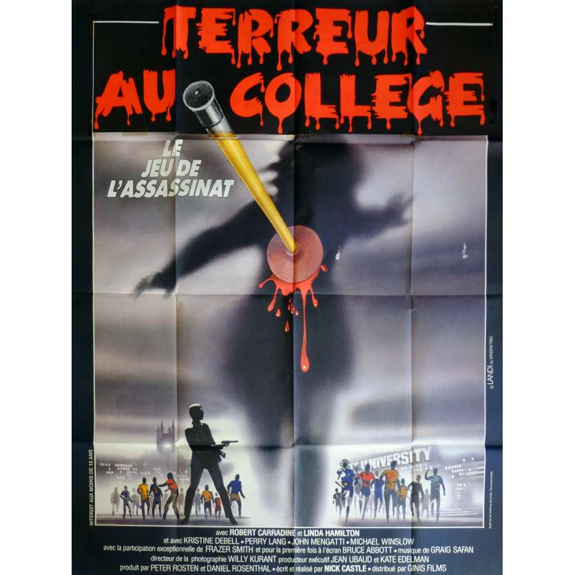 TERREUR AU COLLEGE - TAG Affiche de film 120x160 cm - 1982 - Robert Carradine, Nick Castle