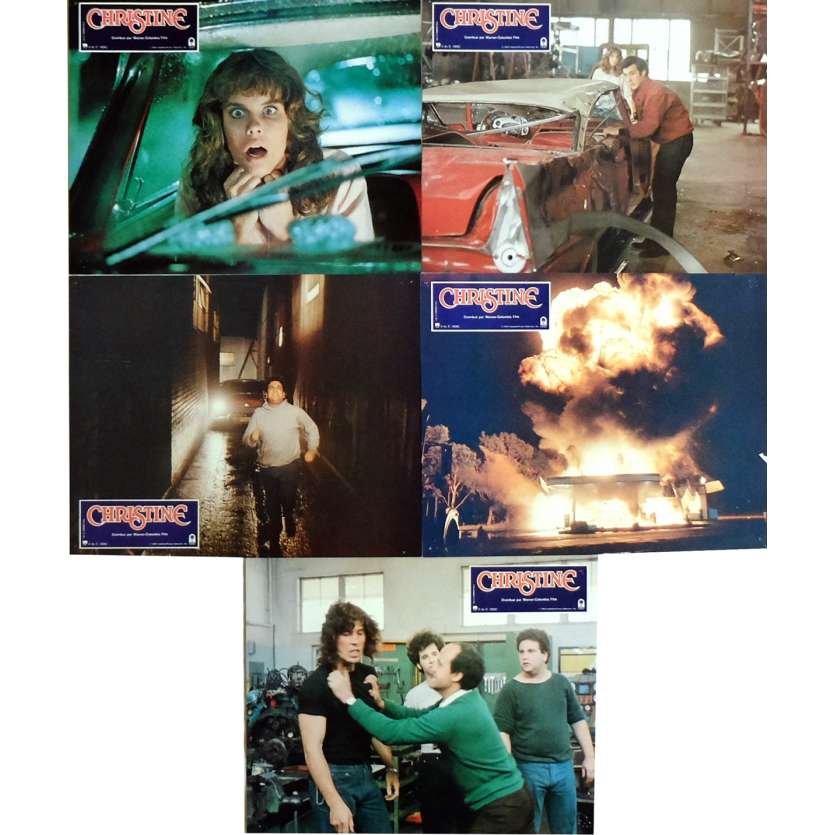 CHRISTINE Lobby Cards x5 9x12 in. French - 1983 - John Carpenter, Keith Gordon