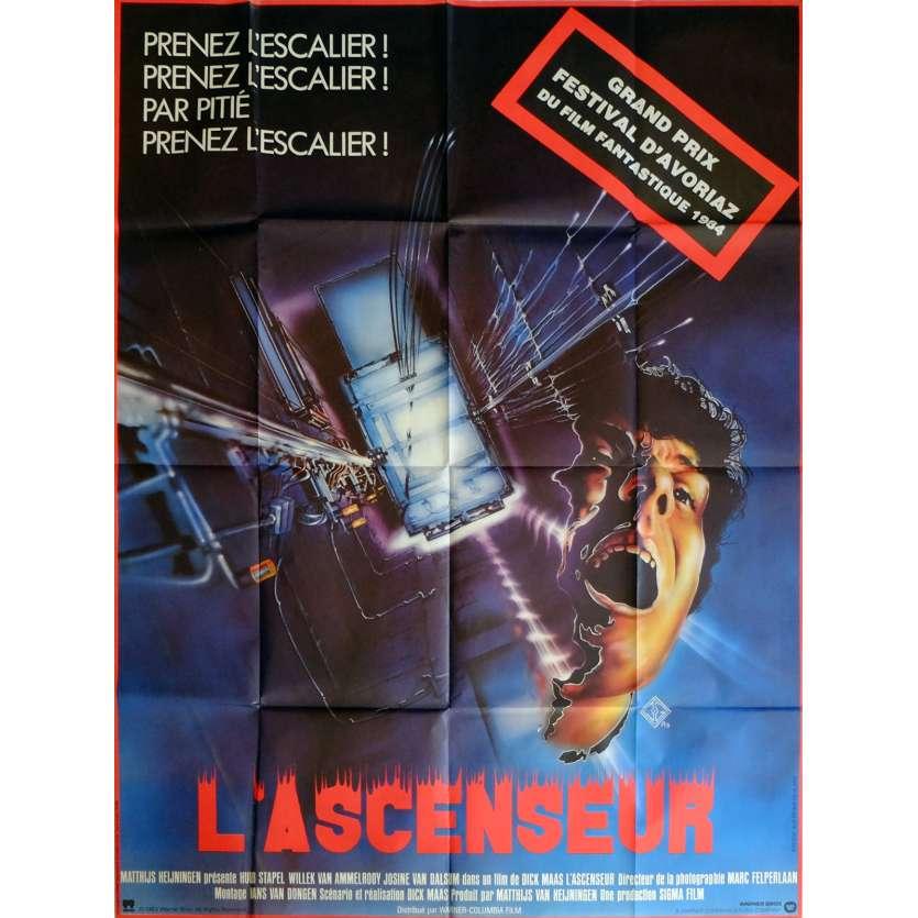 L'ASCENSEUR Affiche de film 120x160 cm - 1983 - Huub Stapel, Dick Maas
