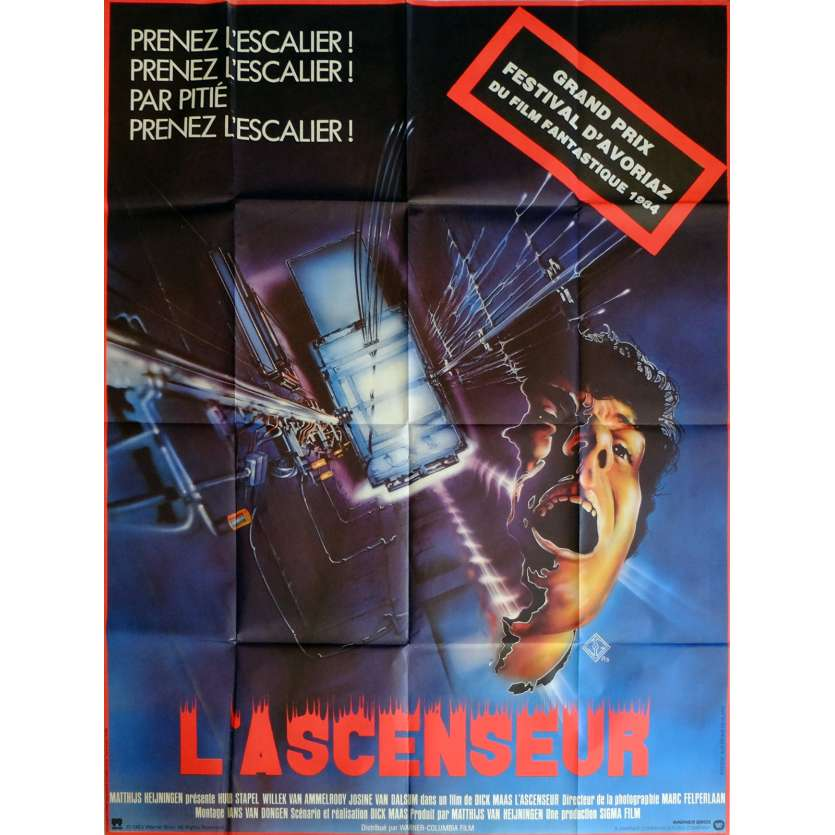 THE LIFT Movie Poster 47x63 in. French - 1983 - Dick Maas, Huub Stapel