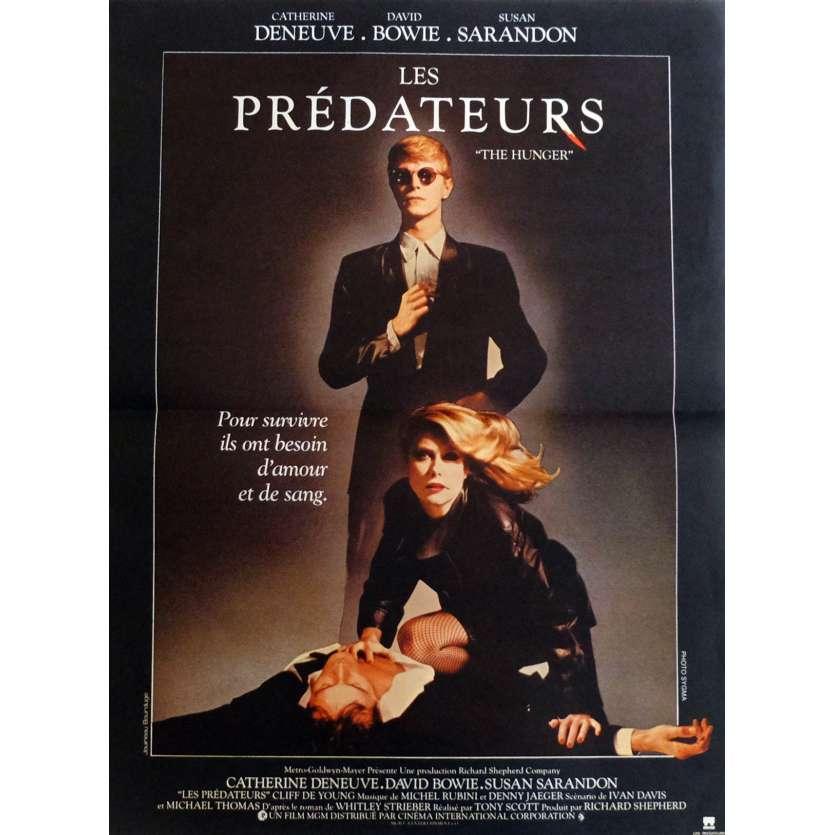 LES PREDATEURS Affiche de film 40x60 cm - 1983 - David Bowie, Tony Scott