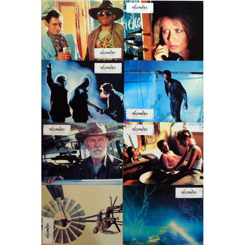 RAZORBACK Lobby Cards x8 9x12 in. French - 1984 - Russel Mulcahy, Gregory Harrison