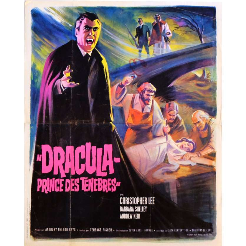 DRACULA PRINCE OF DARKNESS Movie Poster 15x21 in. French - 1966 - Terence Fisher, Christopher Lee