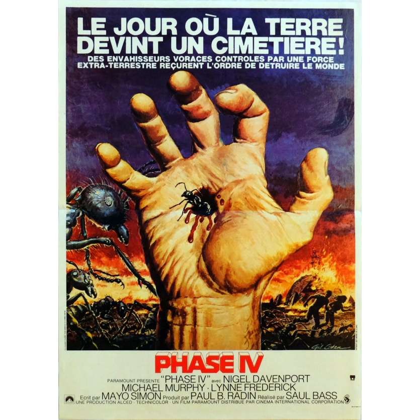 PHASE IV Movie Poster 15x21 in. French - 1974 - Saul Bass, Nigel Davenport