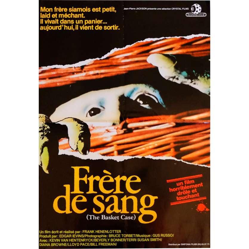 FRERE DE SANG Affiche de film 40x60 cm - 1982 - Kevin van Hentenryck, Franck Henenlotter