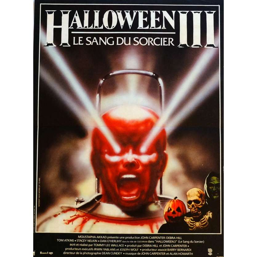 HALLOWEEN III Movie Poster 15x21 in. French - 1982 - Tommy Lee Wallace, Tom Atkins