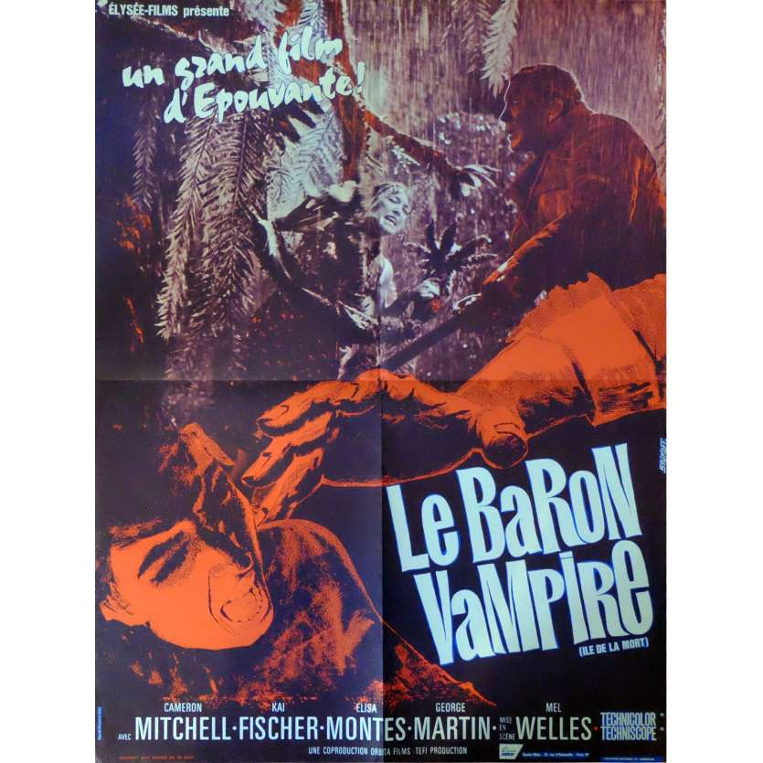 LA ISLA DE LA MUERTE Movie Poster 23x32 in. French - 1967 - Mel Welles, Cameron Mitchell