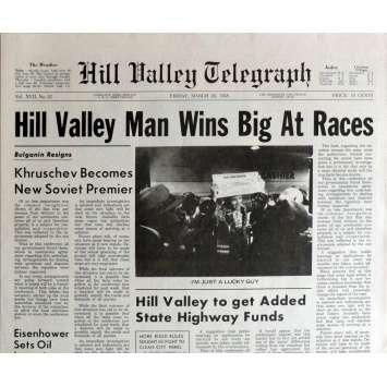 RETOUR VERS LE FUTUR Réplique EXACTE du Journal ! Hill Valley Man
