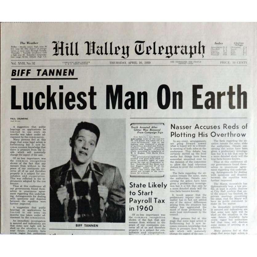 RETOUR VERS LE FUTUR Réplique EXACTE du Journal ! Luckiest Man