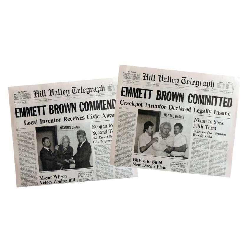 RETOUR VERS LE FUTUR Réplique EXACTE des journaux Emmet Brown !