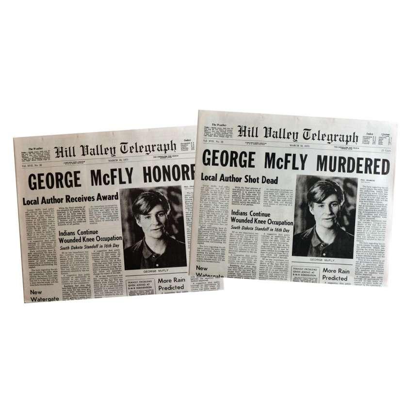 RETOUR VERS LE FUTUR Réplique EXACTE des journaux George McFly !