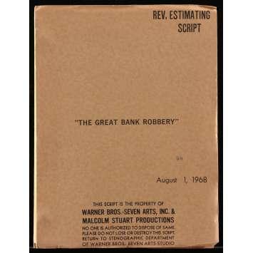 LA GRANDE ATTAQUE DU TRAIN D'OR Scénario 21x30 cm - 1979 - Sean Connery, Michael Crichton
