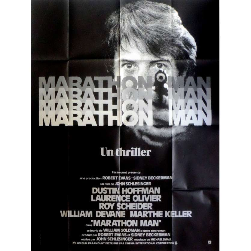 MARATHON MAN Movie Poster 47x63 in. French - 1976 - John Schlesinger, Dustin Hoffman