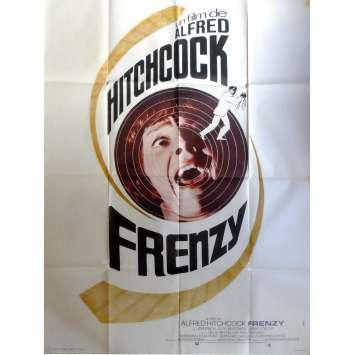 FRENZY Affiche de film 120x160 cm - 1972 - Jon Finch, Alfred Hitchcock
