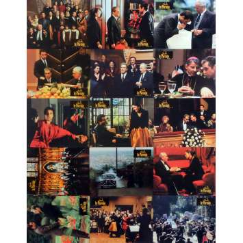 THE GODFATHER III Lobby Cards x15 9x12 in. French - 1990 - Francis Ford Coppola, Al Pacino