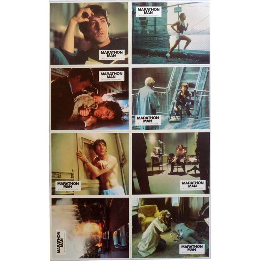 MARATHON MAN Photos de film x8 21x30 cm - 1976 - Dustin Hoffman, John Schlesinger