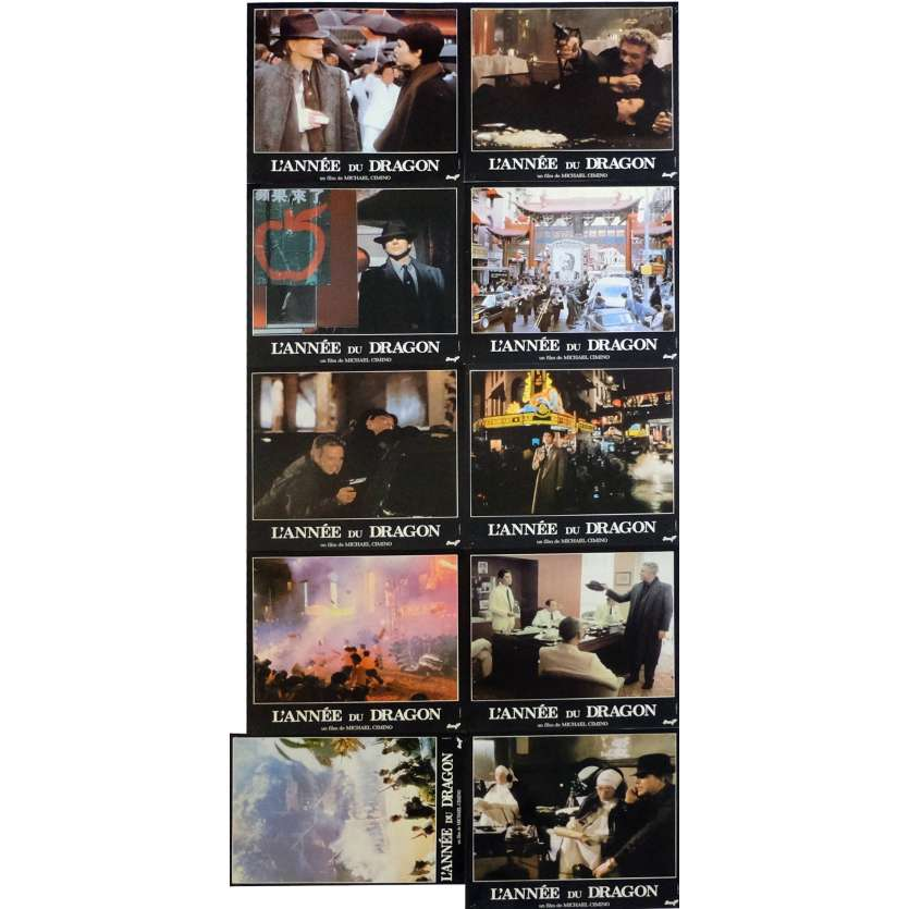 YEAR OF THE DRAGON Lobby Cards 11x14 in. French - 1985 - Michael Cimino, Mickey Rourke