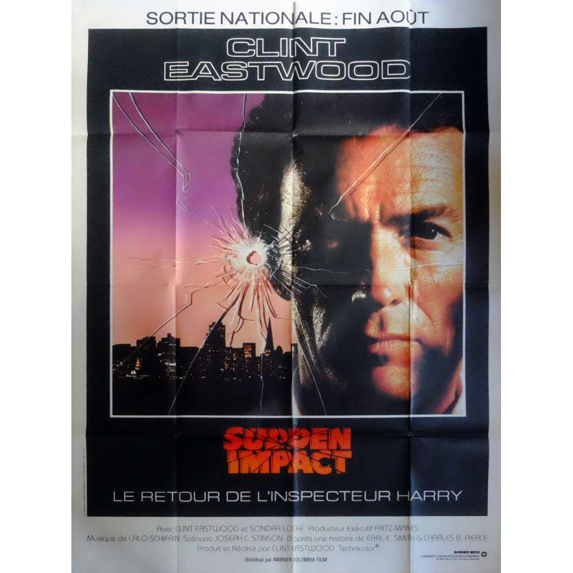 SUDDEN IMPACT Movie Poster 47x63 in. French - 1983 - Clint Eastwood, Sondra Locke