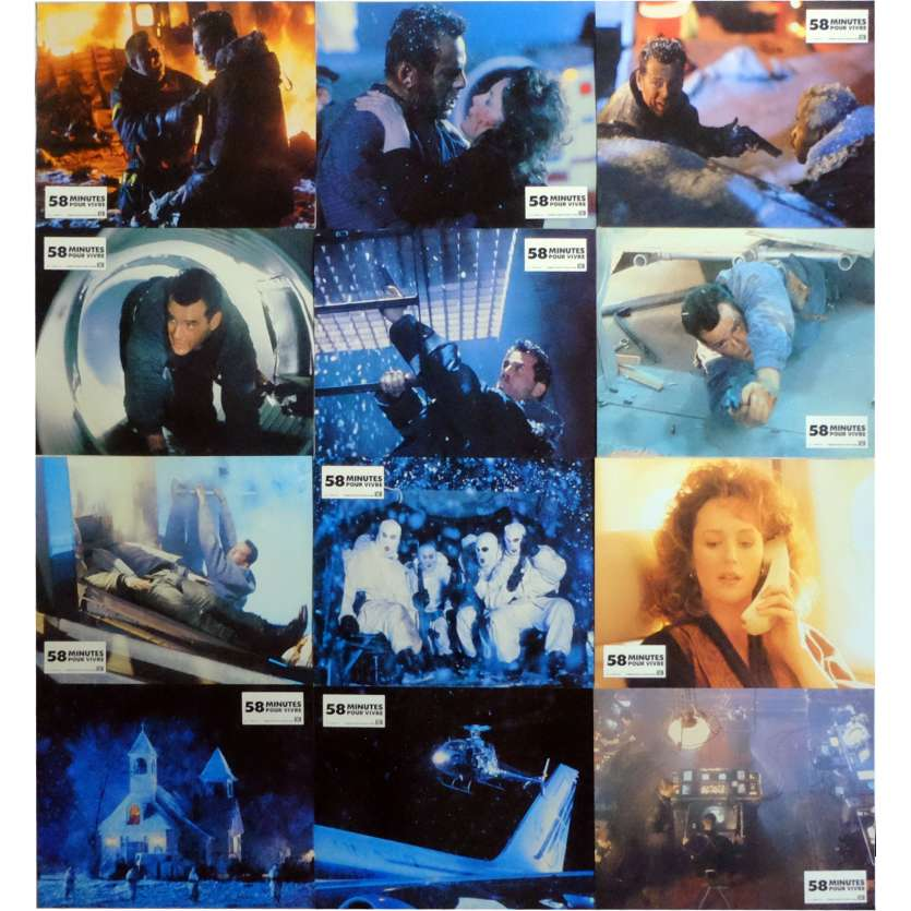 DIE HARD 2 Lobby Cards x12 9x12 in. French - 1990 - Renny Harlin, Bruce Willis