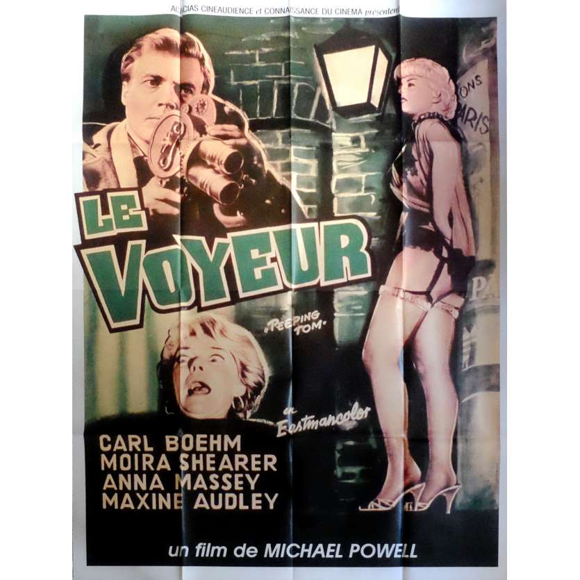 PEEPING TOM Movie Poster 47x63 in. French - R1970 - Michael Powell, Anna Massey