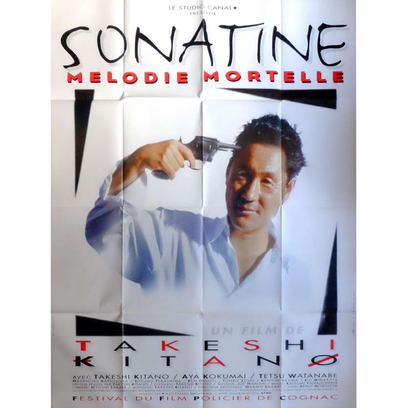 SONATINE Movie Poster 47x63 in. French - 1993 - Takeshi Kitano, Aya Kokumai