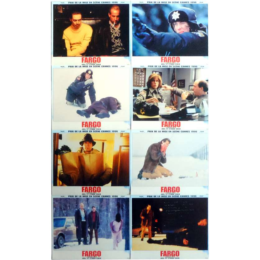 FARGO Lobby Cards 9x12 in. French - 1996 - Coen Bros, Frances McDormand