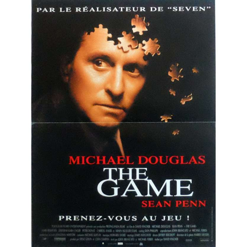 THE GAME Movie Poster 15x21 in. French - 1997 - David Fincher, Michael Douglas