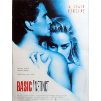 BASIC INSTINCT Movie Poster 15x21 in. French - 1992 - Paul Verhoeven, Sharon Stone