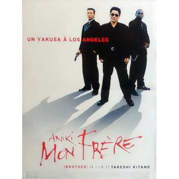 BROTHER Movie Poster 15x21 in. French - 2000 - Takeshi Kitano, Omar Epps