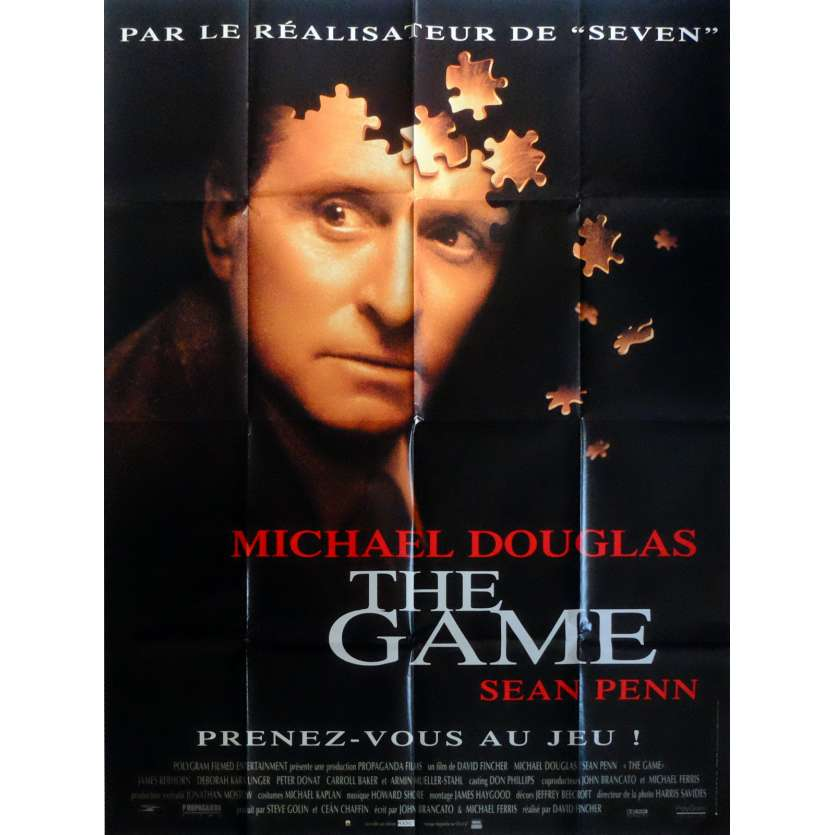 THE GAME Movie Poster 47x63 in. French - 1997 - David Fincher, Michael Douglas