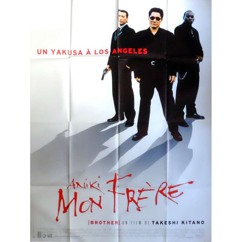 BROTHER French Movie Poster 47x63 '00 Takeshi Kitano Movie Aniki Poster