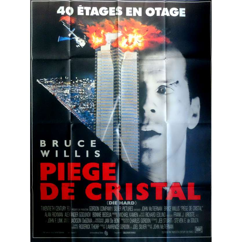 PIEGE DE CRISTAL Affiche de film 120x160 - 1988 - Bruce Willis