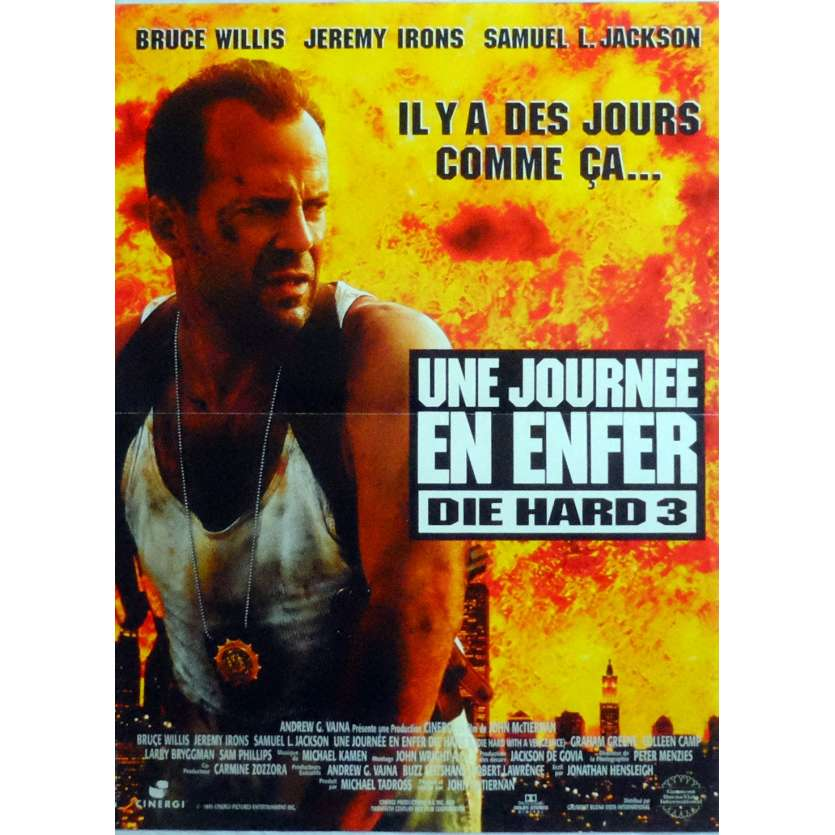 DIE HARD III French Movie Poster 15x21 '95 Bruce Willis