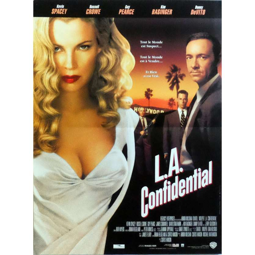L.A. CONFIDENTIAL Movie Poster 15x21 in. French - 1997 - Curtis Hanson, Kevin Spacey