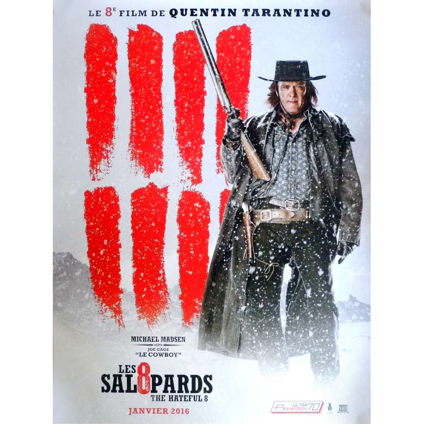 LES 8 SALOPARDS Affiche de film Adv. Mod. A 40x60 cm - 2015 - Kurt Russel, Quentin Tarantino
