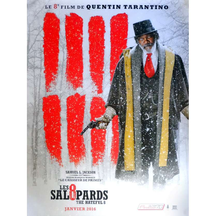 THE HATEFUL EIGHT Movie Poster Adv. Mod. C 15x21 in. French - 2015 - Quentin Tarantino, Kurt Russel