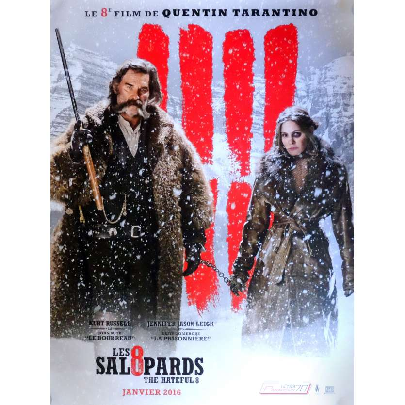 THE HATEFUL EIGHT Movie Poster Adv. Mod. D 15x21 in. French - 2015 - Quentin Tarantino, Kurt Russel