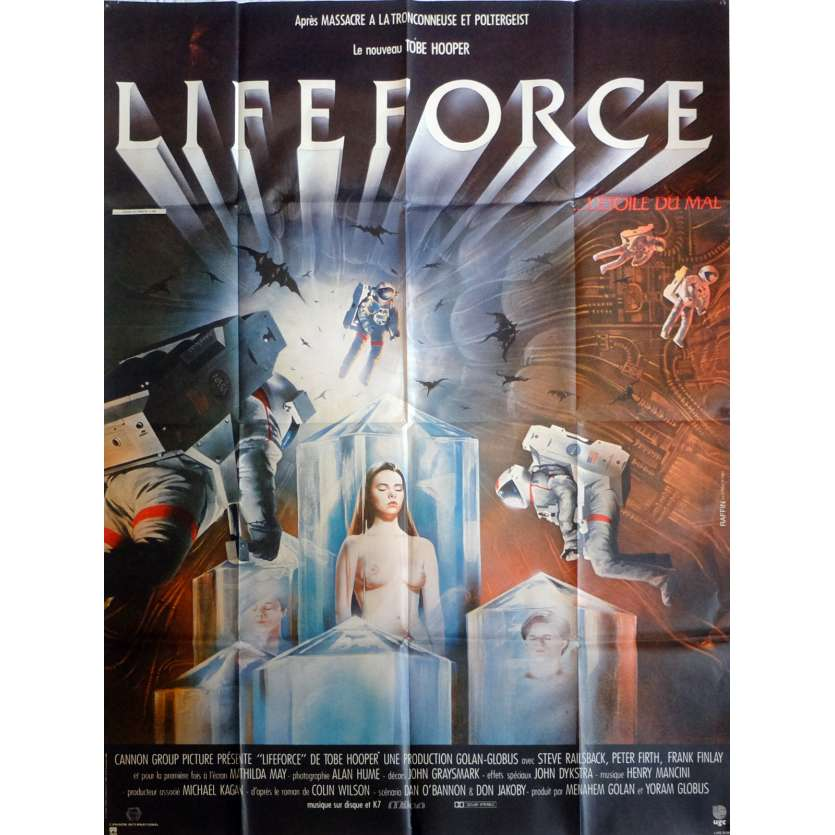 LIFEFORCE French 1P Movie Poster '84 Tobe Hooper 47x63 Space Vampires