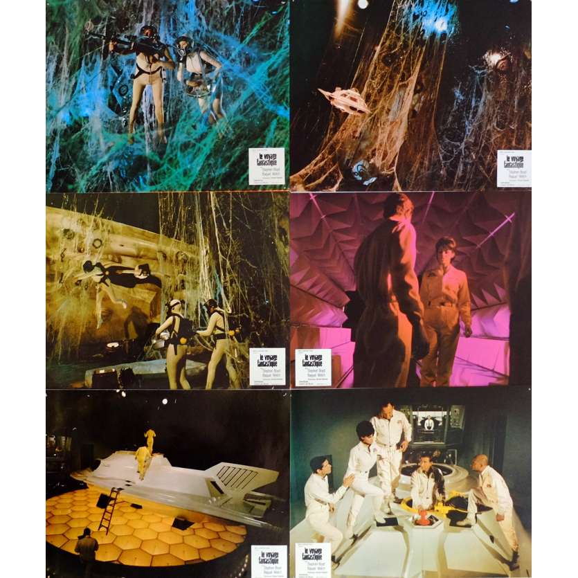 FANTASTIC VOYAGE Lobby Cards x6 9x12 in. French - 1966 - Richard Fleisher, Rachel Welch