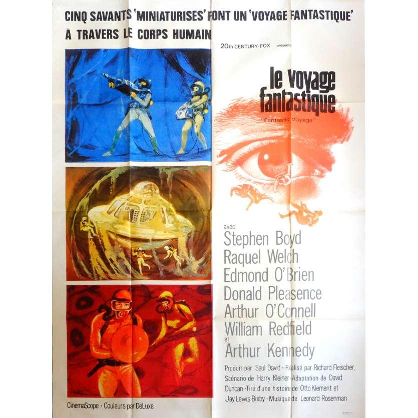 FANTASTIC VOYAGE Movie Poster 47x63 in. French - 1966 - Richard Fleisher, Rachel Welch